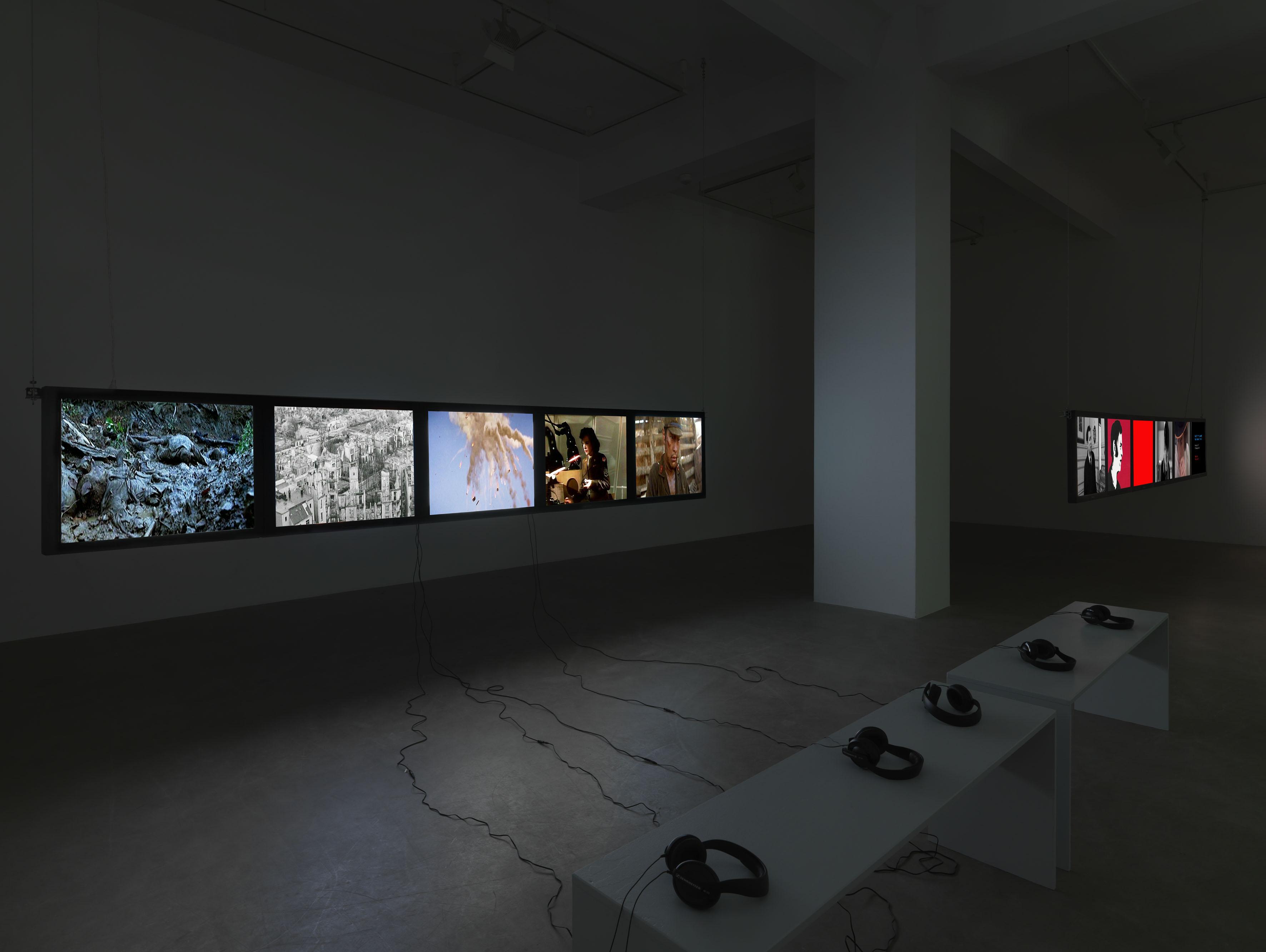 Harun Farocki: Mit anderen Mitteln – By Other Means, Ausstellungsansicht Neuer Berliner Kunstverein, 2017 © Neuer Berliner Kunstverein / Jens Ziehe