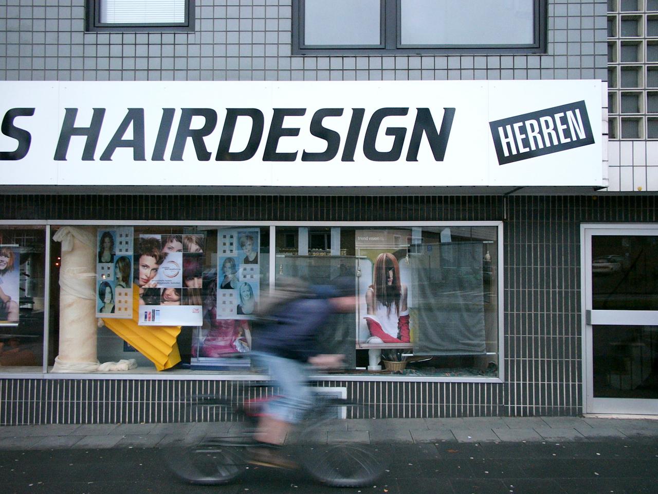 Friseursalon mit dem Titel Hairdesign