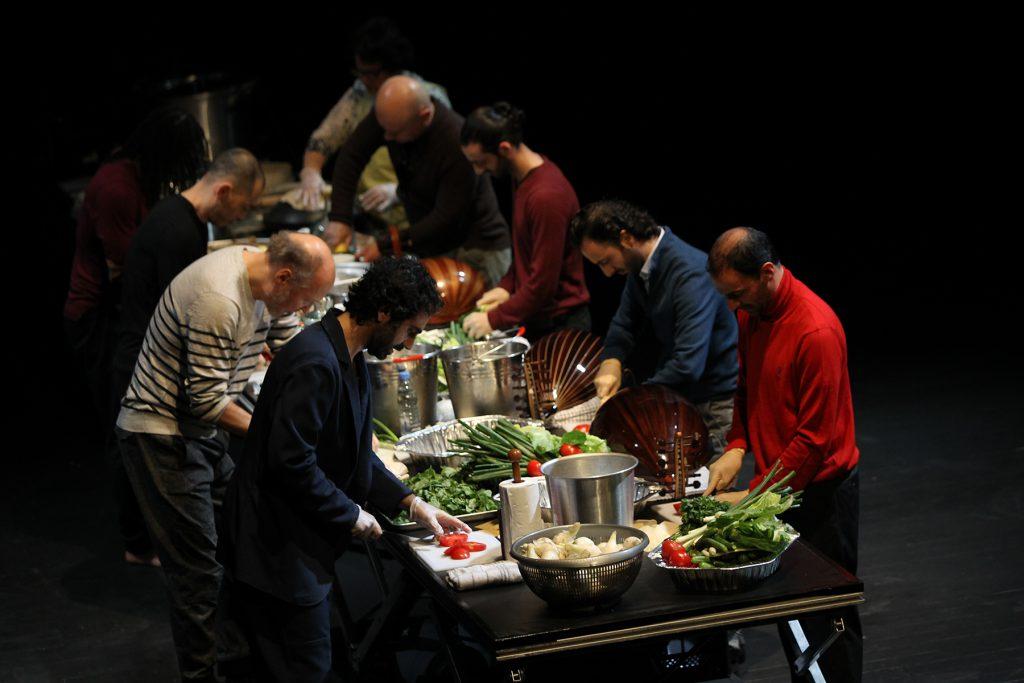Kochen mit dem Publikum