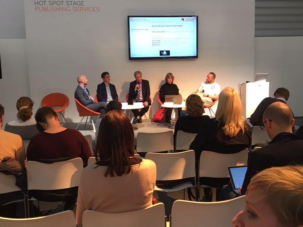 """""""How accessible are your products?"""" - Panel zum Thema Sehbehinderung und Zugänglichkeit von Verlagsprodukten"""