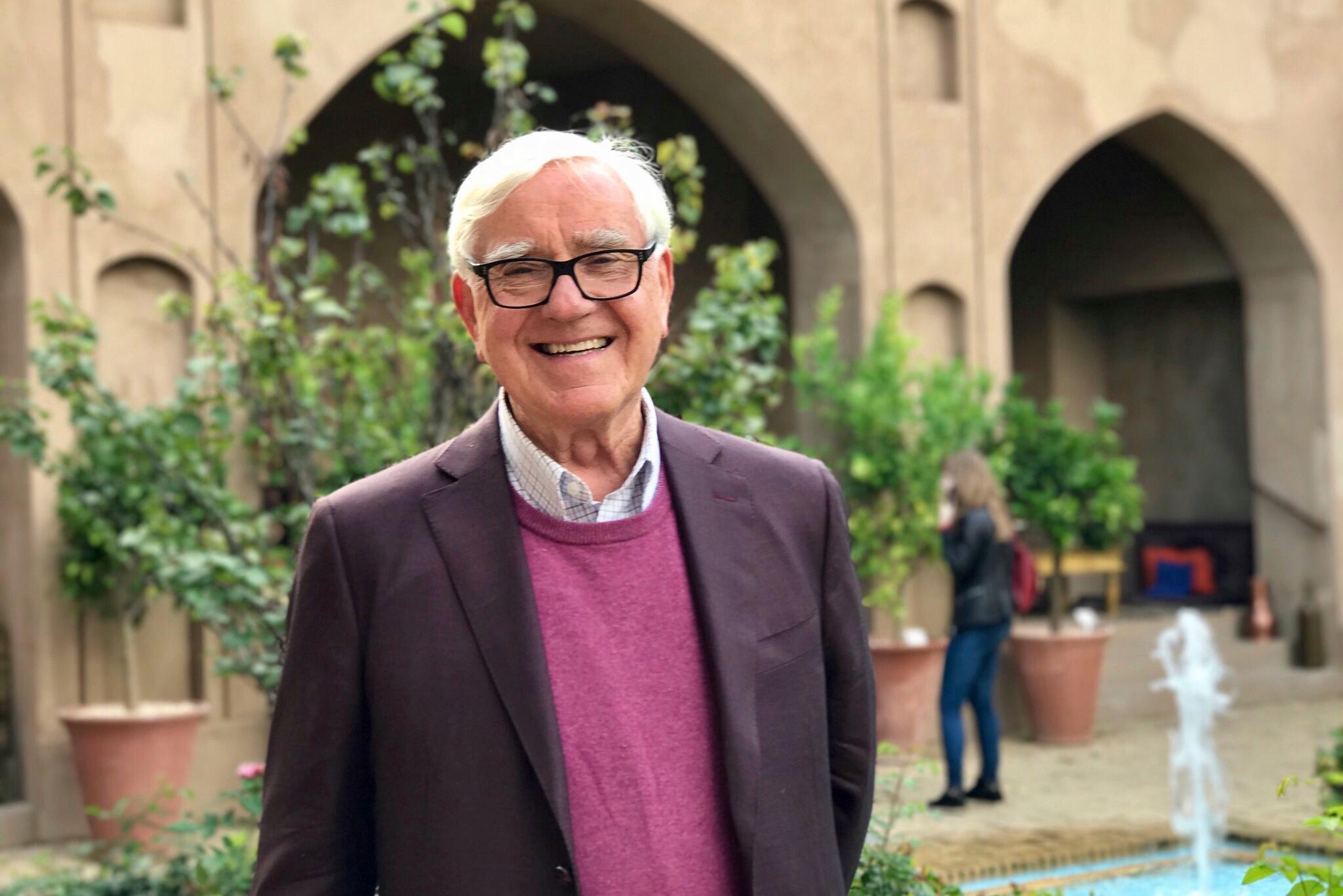 Heinrich Gehring im Persischen Garten der Bundeskunsthalle, Foto: Benjamin Doum
