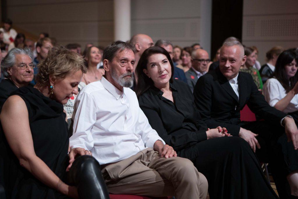 """Marina Abramović & Ulay bei der Eröffnung von """"The Cleaner"""" in der Bundeskunsthalle (19. April, 2018)"""