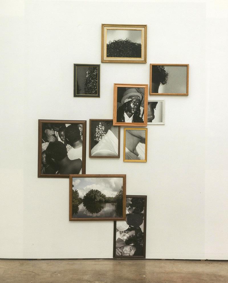 Arrangierte Schwarz/Weiß-Bilder mit Detailaufnahmen des King of Pop
