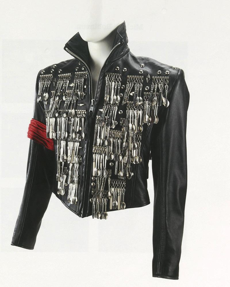 Eine von Michael Jackson designte Lederjacke.
