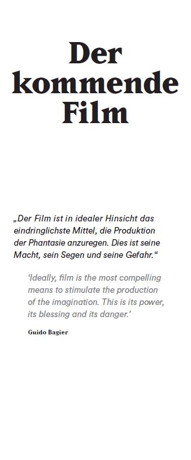 Positionen der Filmbetrachtung in der Ausstellung KINO DER MODERNE