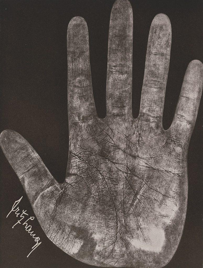 Fotokopie der Hand von Fritz Lang, 1931, Quelle: Deutsche Kinemathek – Marlene Dietrich Collection Berlin, Handbibliothek
