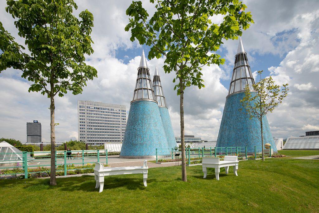 Gartenansicht, Mai 2019, Foto: Sibylle Pietrek © Kunst- und Ausstellungshalle der Bundesrepublik Deutschland GmbH