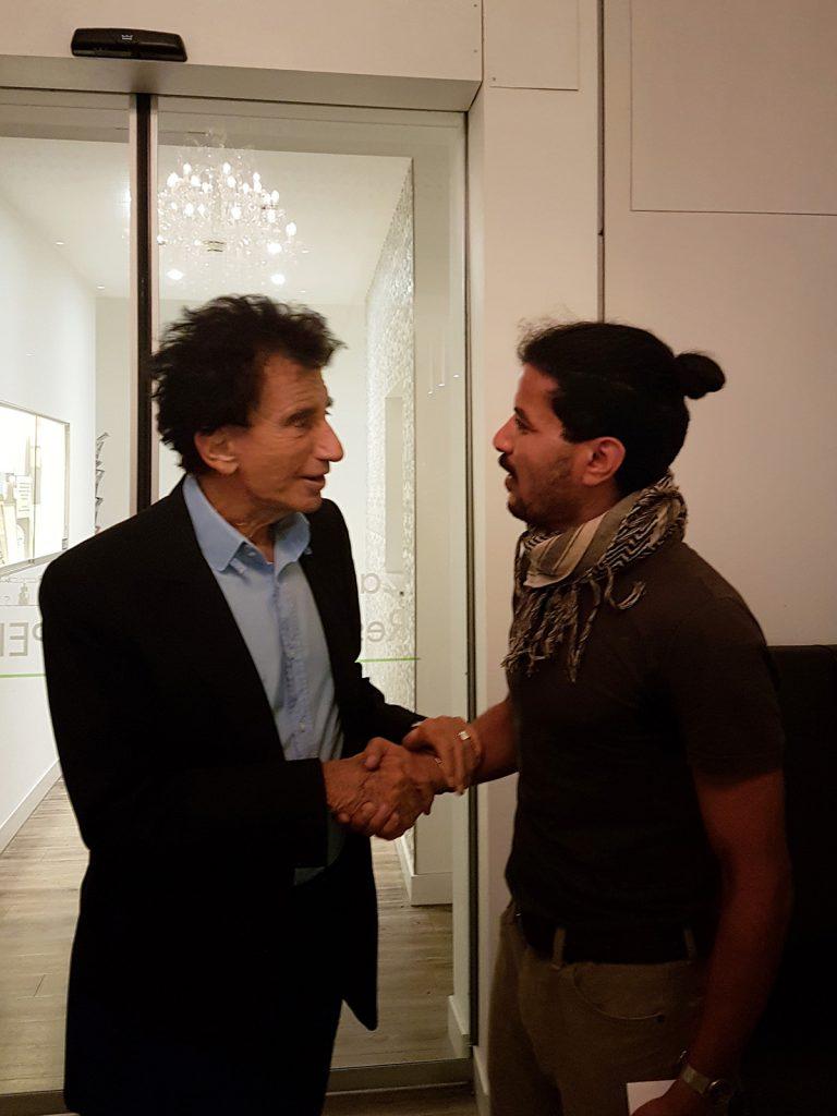 Hafez Al Moussa trifft Dr. Jack Lang, Foto © Hubert Ringwald