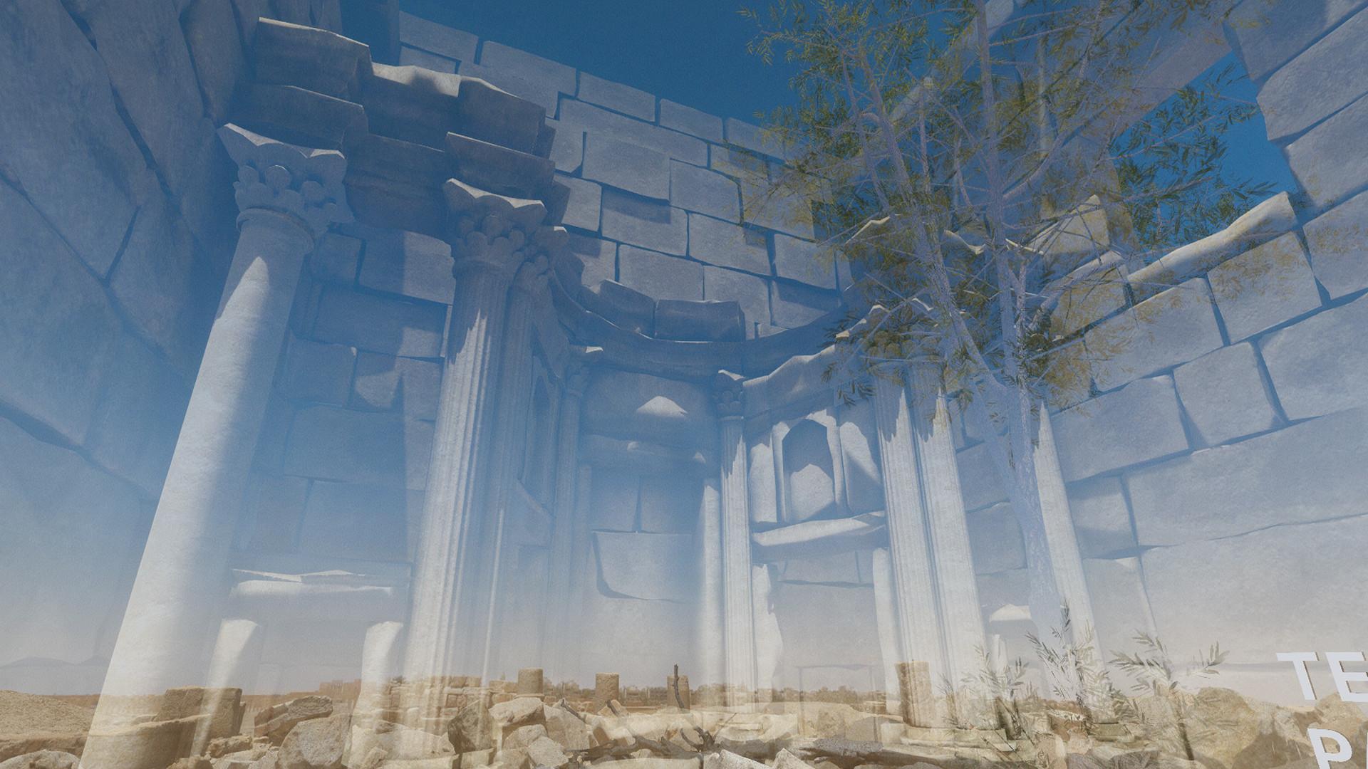Tempel des Baalshamin in Palmyra, Syrien © Iconem/DGAM/Ubisoft