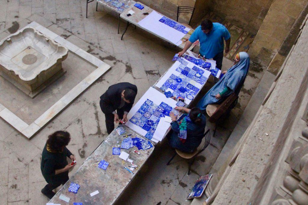 SIMPLY BLUE! Ausstellung, Februar 2019 in Kairo